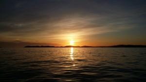 Solnedgang i Mandalay